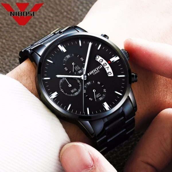 NIBOSI Relogio Masculino Men Watches Luxury Famous Top Brand Men s Fashion Casual Dress Watch Military 1