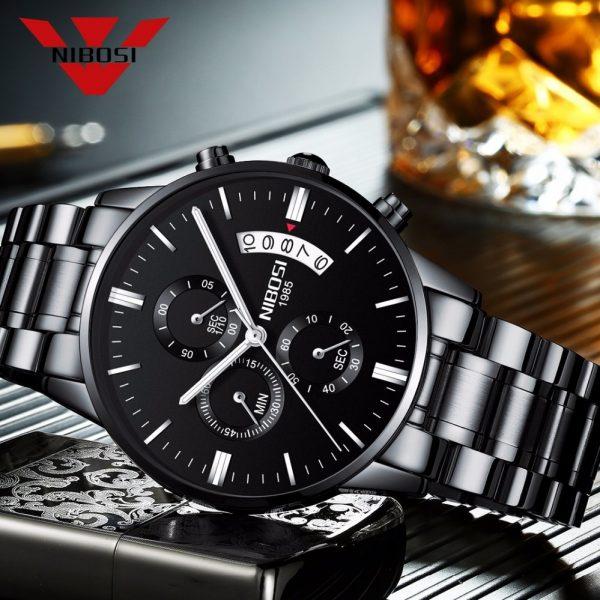 NIBOSI Relogio Masculino Men Watches Luxury Famous Top Brand Men s Fashion Casual Dress Watch Military 12