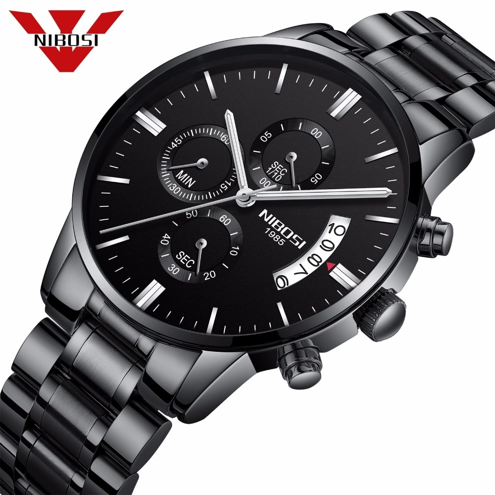 NIBOSI Relogio Masculino Men Watches Luxury Famous Top Brand Men s Fashion Casual Dress Watch Military 14