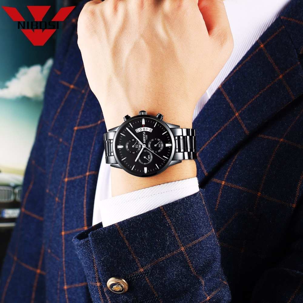 NIBOSI Relogio Masculino Men Watches Luxury Famous Top Brand Men s Fashion Casual Dress Watch Military 16