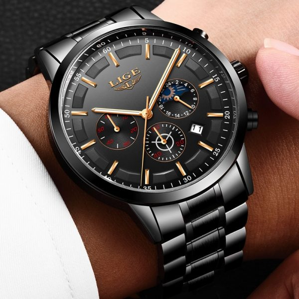 Relojes 2018 Watch Men LIGE Fashion Sport Quartz Clock Mens Watches Top Brand Luxury Business Waterproof 1