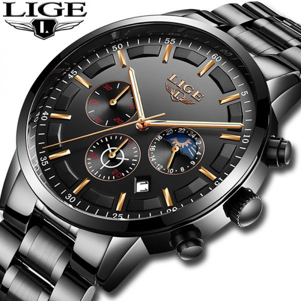 Relojes 2018 Watch Men LIGE Fashion Sport Quartz Clock Mens Watches Top Brand Luxury Business Waterproof