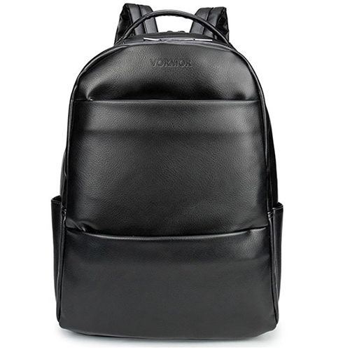 VORMOR Famous Brand Fashion Preppy Style Women Men School Backpack For Teenage Solid Black Leather Backpack.jpg 640x640