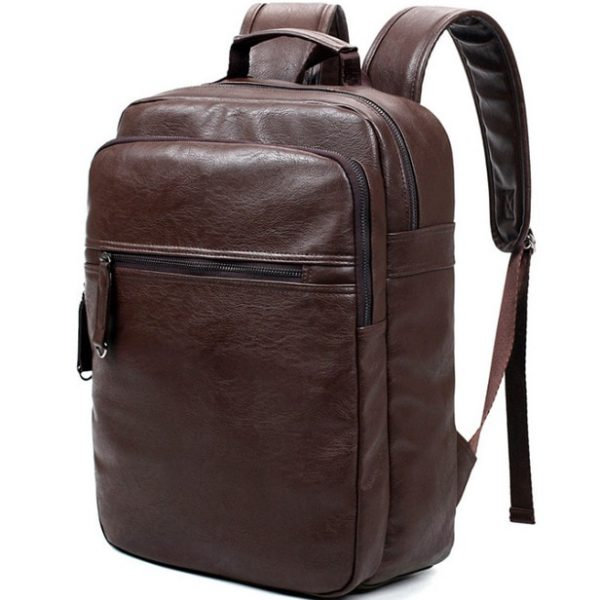 VORMOR Men Leather Backpack High Quality Youth Travel Rucksack School Book Bag Male Laptop Business bagpack 1.jpg 640x640 1