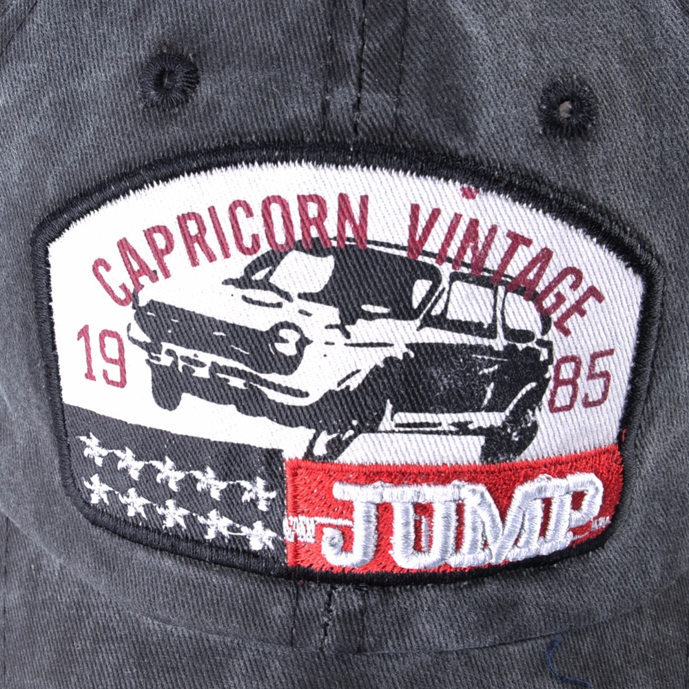 Vintage Baseball Cap Men Women Washed Denim Dad Hat Capricorn 1985 Snapback Hip Hop Bone Outdoor 11