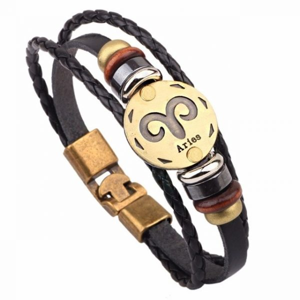 Vnox 12 Horoscope Leather Bracelet Men Jewelry Vintage Retro Charm Bracelet Male Jewelry 8 2.jpg 640x640