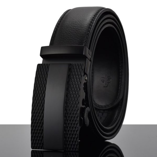 WOWTIGER Fashion Designers Men Automatic Buckle Leather luxury Belt Business Male Alloy buckle Belts for Men