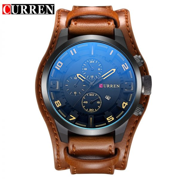 relogio masculino CURREN Watch Men Military Quartz Watch Mens Watches Top Brand Luxury Leather Sports Wristwatch 1