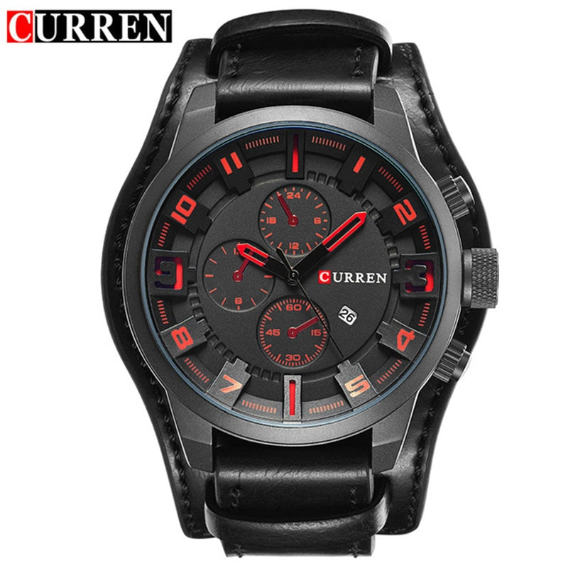 relogio masculino CURREN Watch Men Military Quartz Watch Mens Watches Top Brand Luxury Leather Sports Wristwatch 2