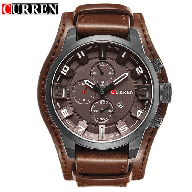 relogio masculino CURREN Watch Men Military Quartz Watch Mens Watches Top Brand Luxury Leather Sports Wristwatch 3.jpg 640x640 3