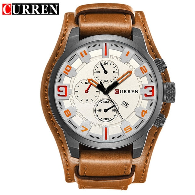 relogio masculino CURREN Watch Men Military Quartz Watch Mens Watches Top Brand Luxury Leather Sports Wristwatch 4.jpg 640x640 4